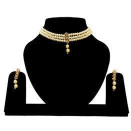 Choker Pearl Necklace NS-3798-66-W365