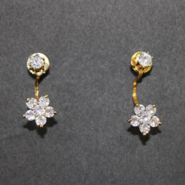 CZ Gold+Silver Plated Earrings 400672