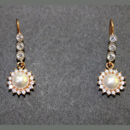 CZ Rose Gold Plated Earrings 68772