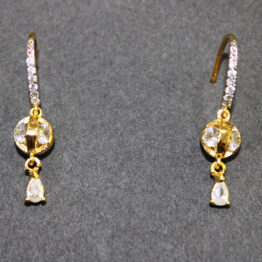 CZ Gold+Silver Plated Earrings 68834