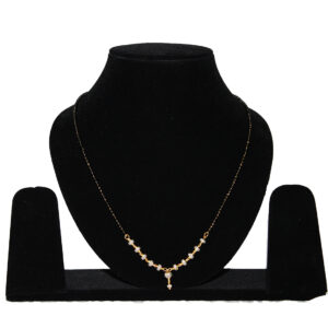 Gold+Silver Plated Mangalsutra CH-113-23