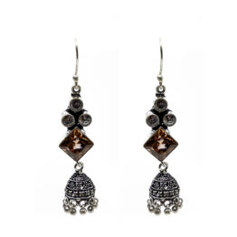 Oxidised Silver LCT Earrings 100007