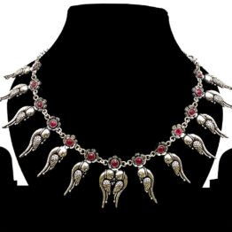 Bird Design Oxidised Silver Necklace NS-4447-90 main