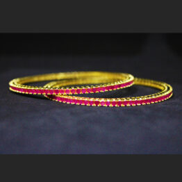Gold Plated Ruby Bangles 53728