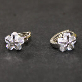 CZ Rhodium Plated Earrings ER-7189-33