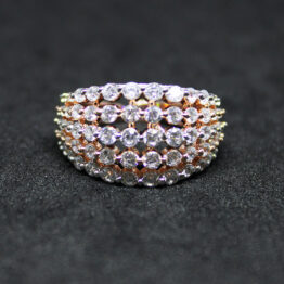 CZ Rose Gold Plated Ring 404205