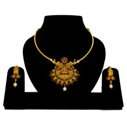 Gold Plated Temple Necklace NS-5121-46