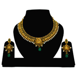 Traditional Gold Plated Temple Set NS-526-99