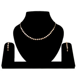 American Diamond Rose Gold Necklace NS-5333-72