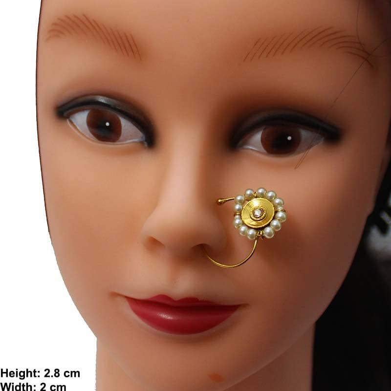 Antique Gold Plated Nose Ring K200365w75 Arora Bridals